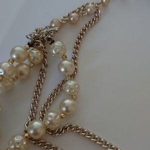Pearl Jewelry - White pearl layered necklace - made in Japan